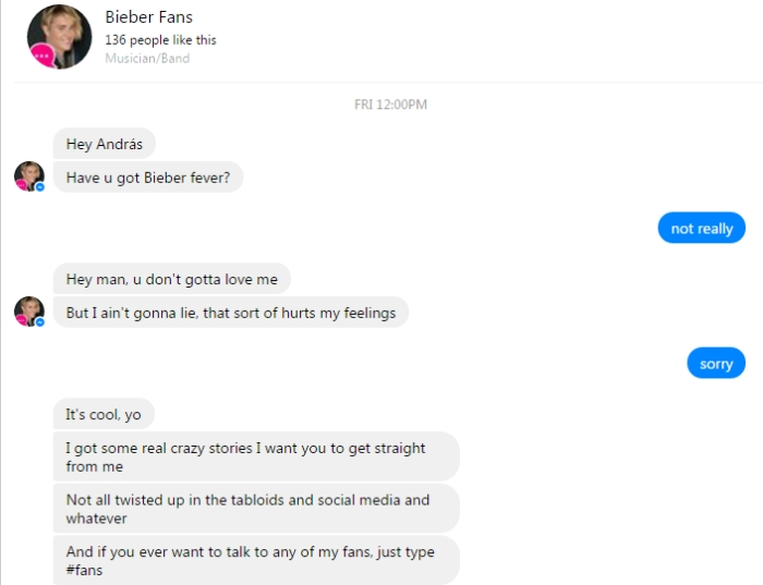 bieber-chatbot